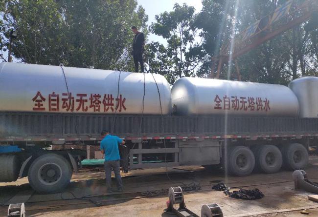 无塔供水设备发货
